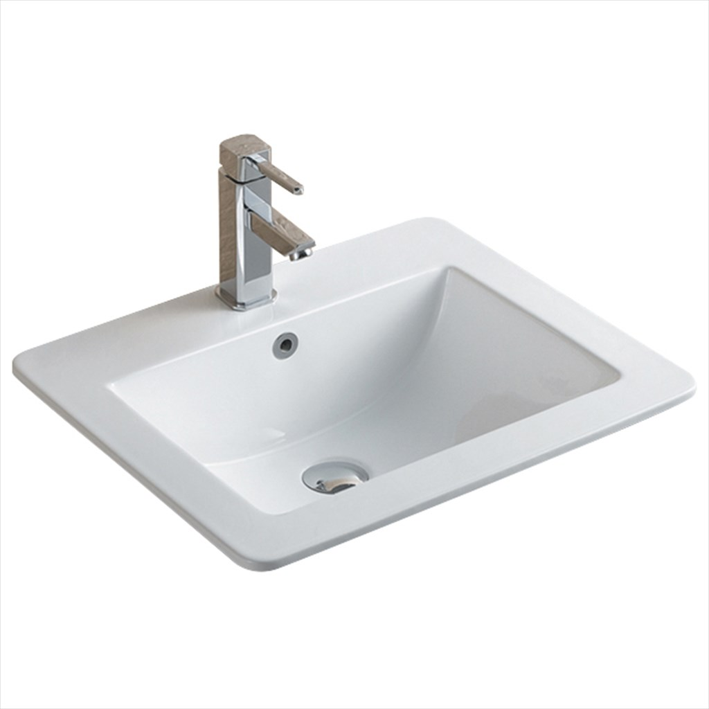 ... T4 T4 Semi Recessed Basin 600mm Inset Bathroom Sink. Androidtop.co
